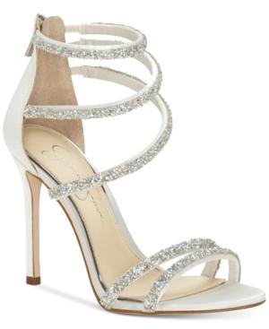 030f501f82a Jessica Simpson Jamalee Gemstone Evening Sandals - White 9.5M ...