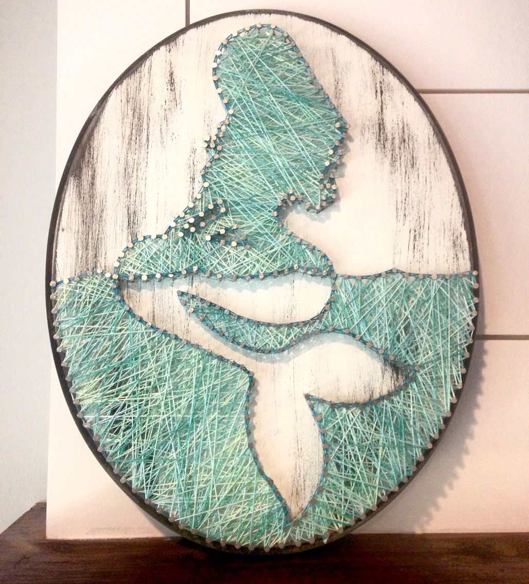 Mermaid String Art