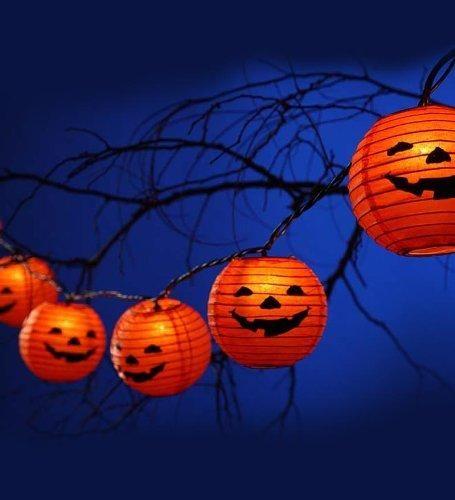 Halloween Paper Lanterns - InfoBarrel Halloween Ideas Pinterest - halloween decorations on pinterest