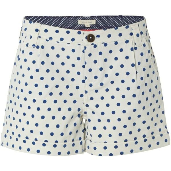 White Stuff Miami Spot Short ($34) ❤ liked on Polyvore featuring shorts, sale, white, white polka dot shorts, short shorts, polka dot shorts, white short shorts and summer shorts