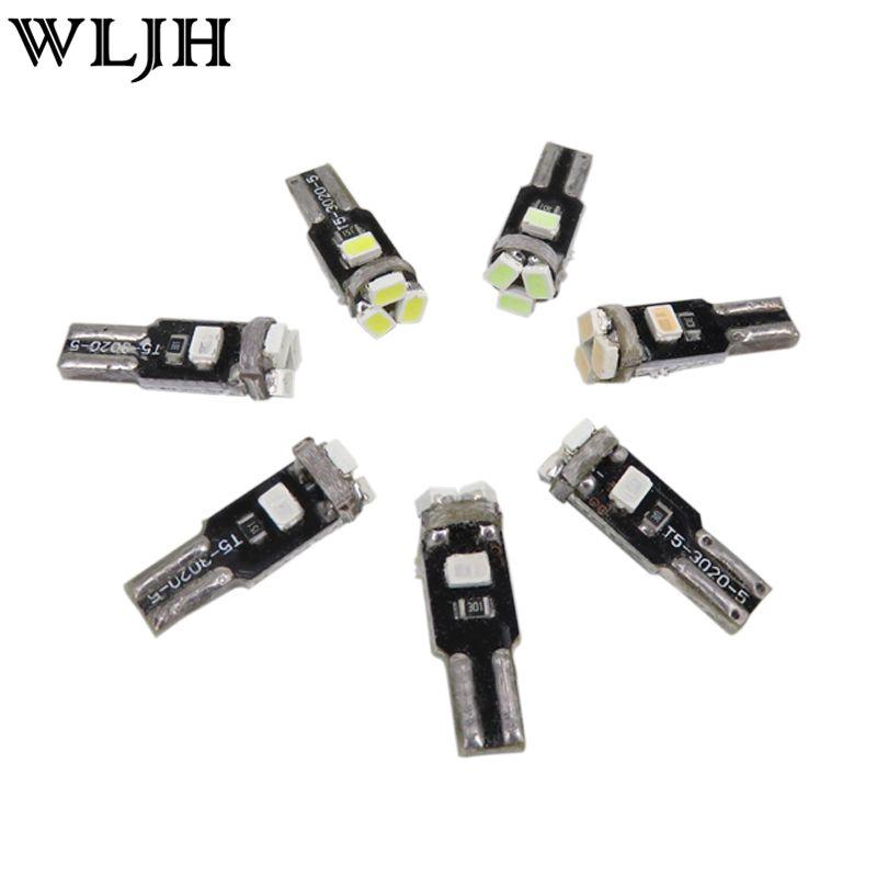 WLJH Car Light Led T5 5SMD Light 73 Wedge Speedometer Gauge Dashboard LED Instrument Panel Bulb For Volvo S70 S80 S90 V70 V90