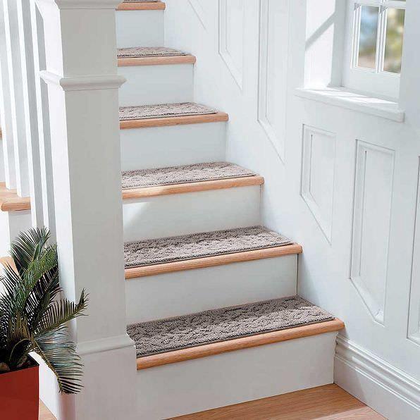 Best Details About Brown Indoor Stair Treads Set Of 7 Non Slip 640 x 480