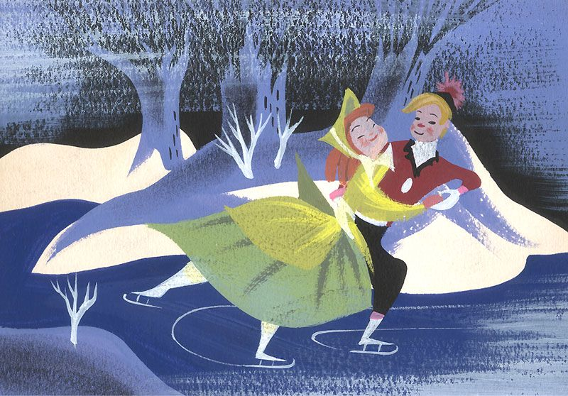 Melody Time Once Upon A Wintertime Walt Disney Storybooks World Wide Art Com Mary Blair 295 Click To See Detai Disney Artists Mary Blair Mary Blair Art