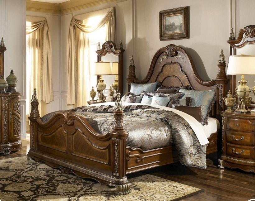 Pin Di Luzka Ashley furniture gold bedroom set