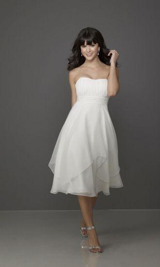 Amazing Chiffon A-line Strapless Empire Tea-Length Bridesmaid Dresses FSAU1409P916952 - formalsydney.com