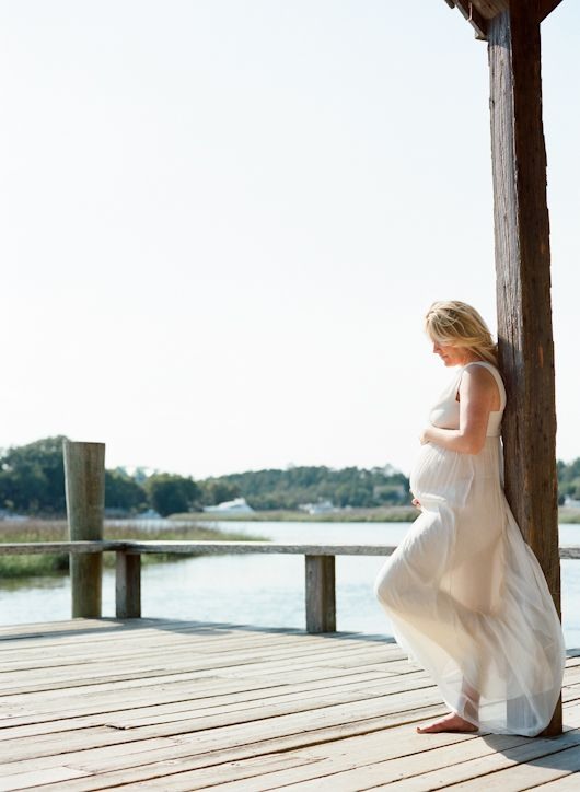 Ashley's Maternity Session at Boone Hall