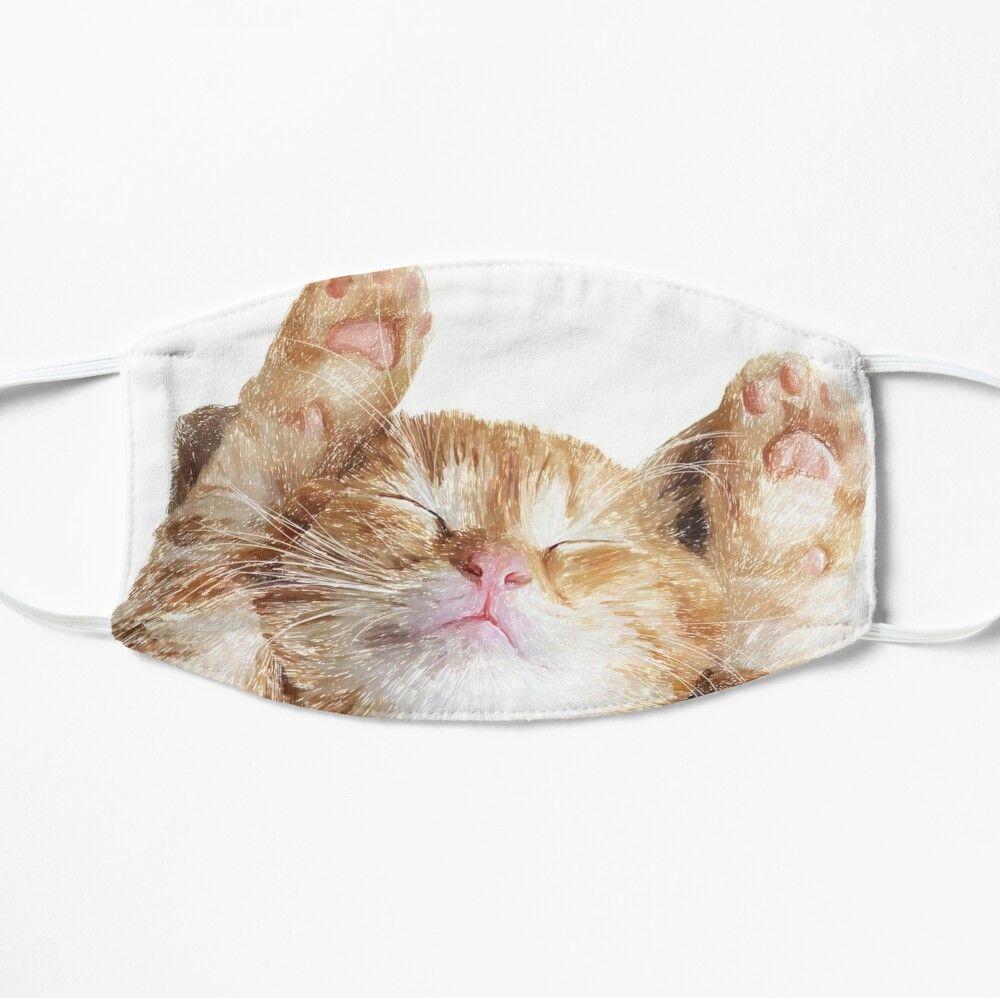 'Ginger Cat, sleepy cat, ginger Kitten, ' Mask by Kittycat1974