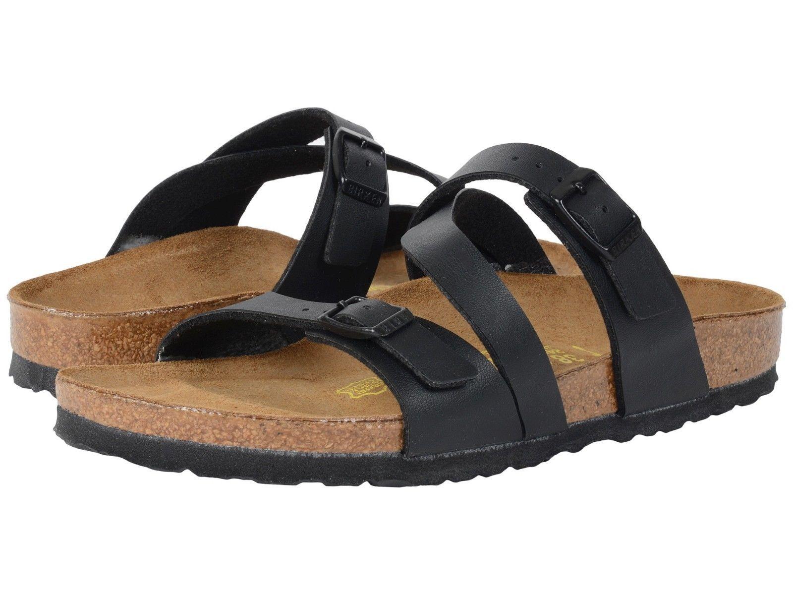 877bd473fc6 Birkenstock Salina Women s Black Birko-Flor Slide Sandal Size 37-41 ...