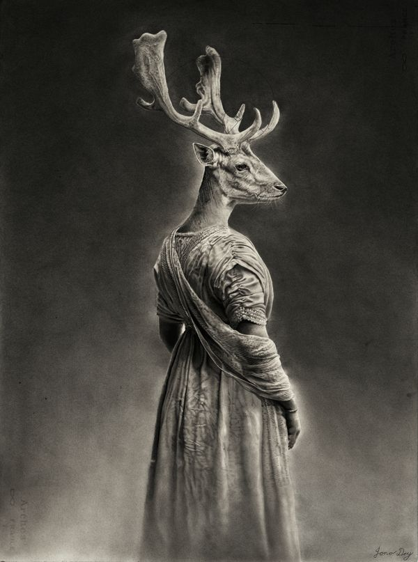 The Stag Queen by Jono Dry, via Behance