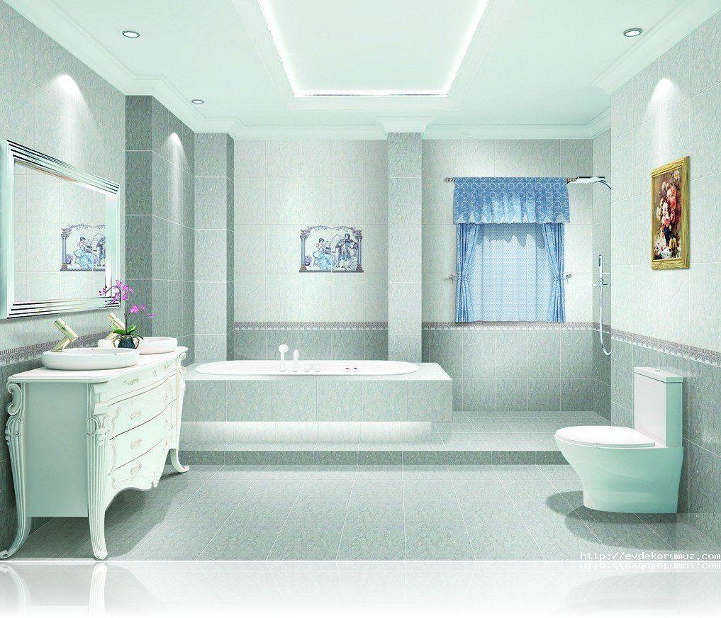 hafif mavi banyo modelleri | banyo ve mutfak | pinterest
