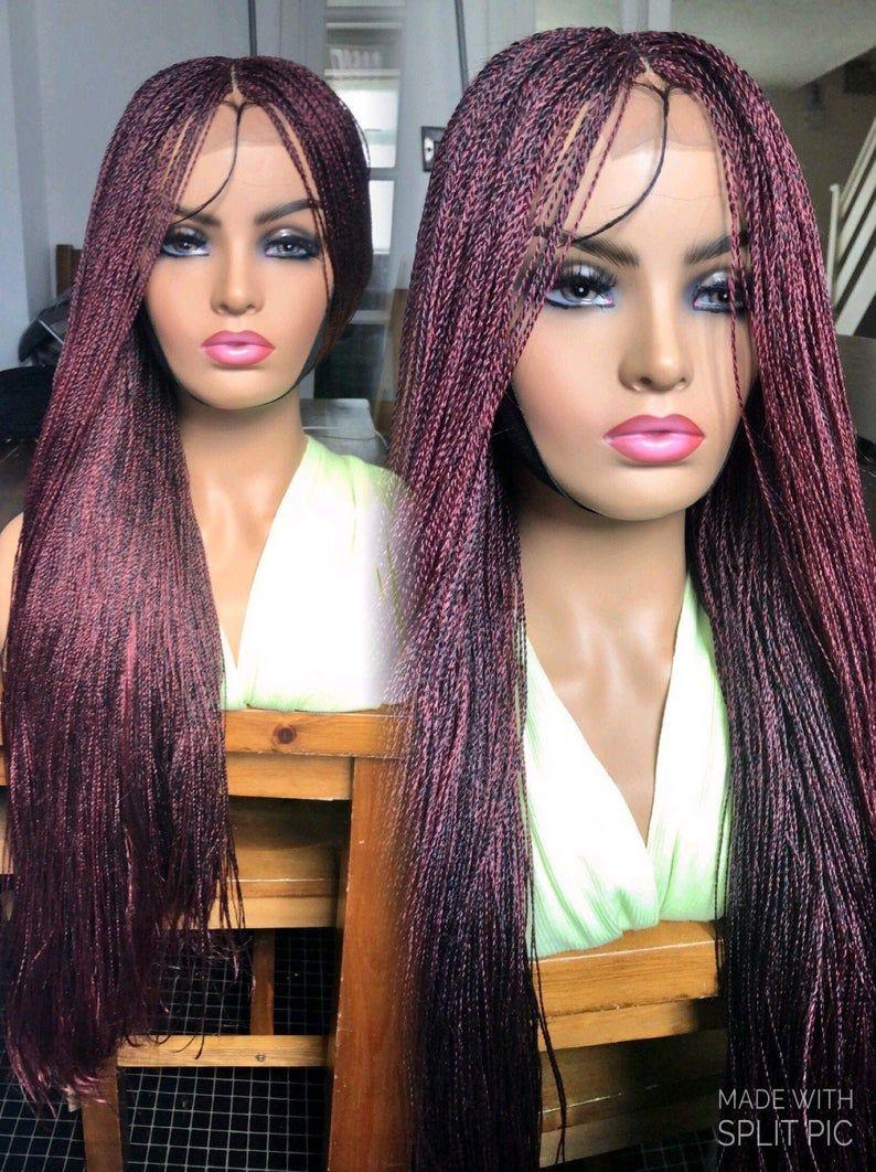 SALE*Braided Wig*Burgundy*Senegalese Twists Wig in 2020