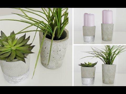 DIY: Blumenübertöpfe aus Beton selber machen | Deko Kitchen