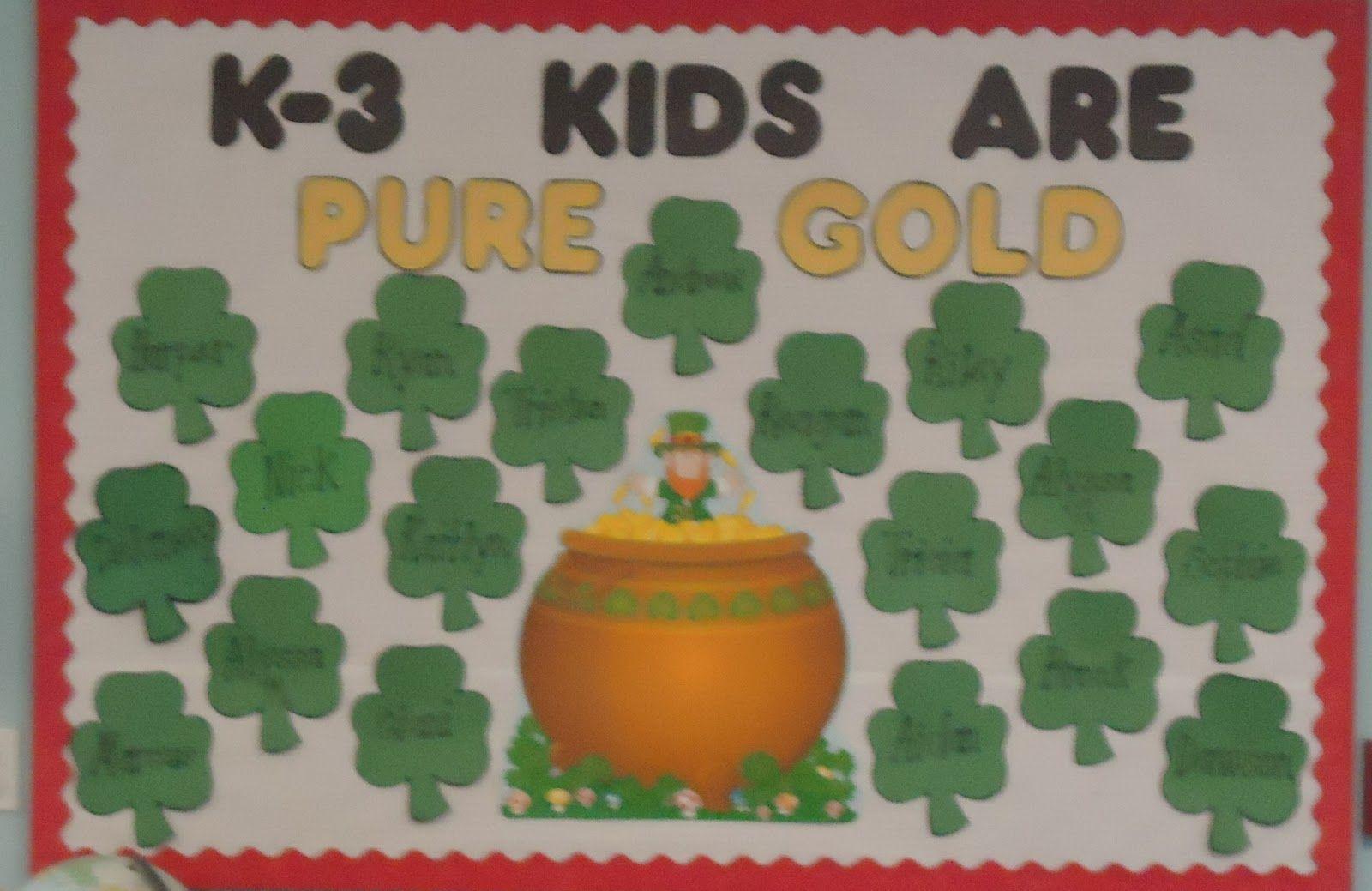 little illuminations: St. Patrick's Day Bulletin Boards ...