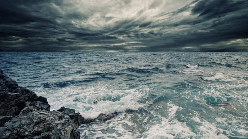 Stormy Sea Sky Wallpaper Stormy Sea Sea Storm Ocean Wallpaper