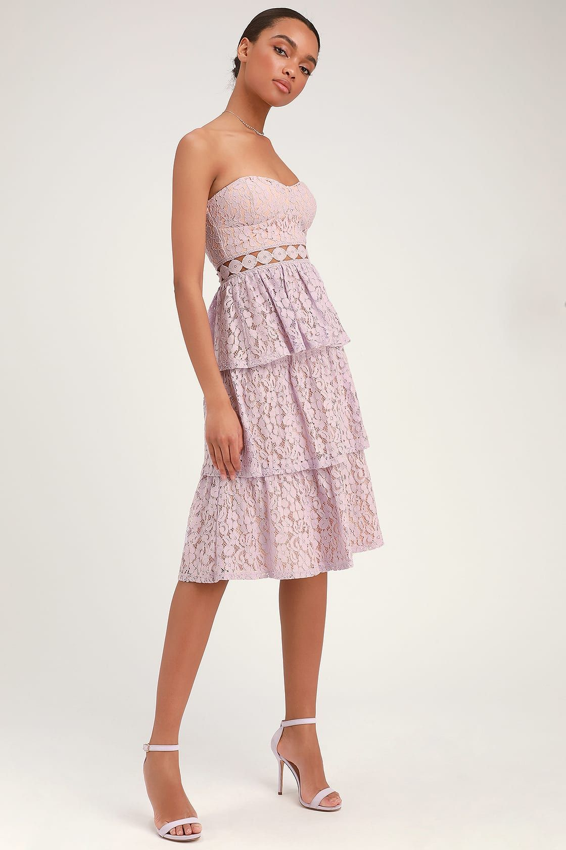 High Waisted Tiered Tulle Star Sequin Skirt Pink | Lily Lulu