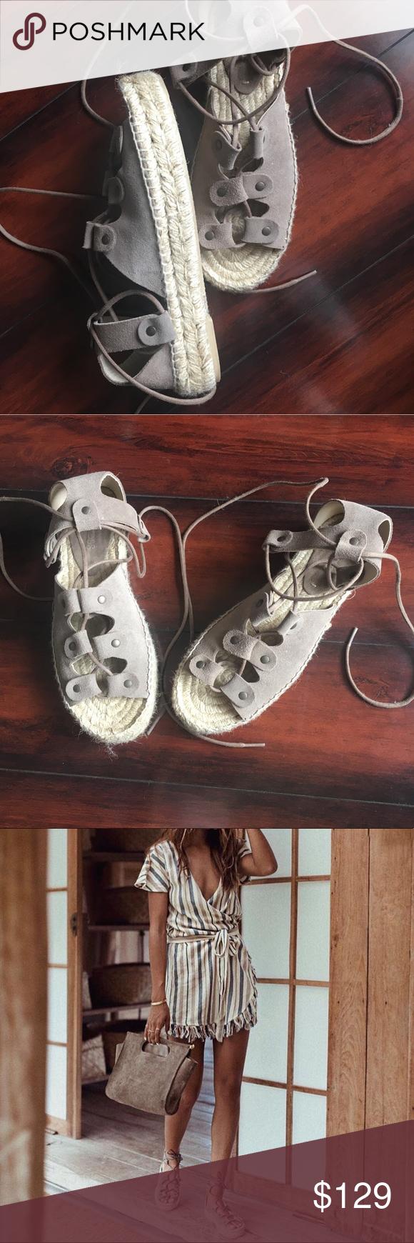 ec7286bbdc80 Soludos Ghillie Platform Sandal Never worn
