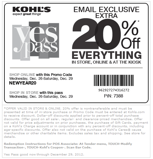 20 Off Everything At Kohls Or Online Via Checkout Promo Newyear20 Coupon Via The Coupons App Kohls Coupons Kohls Printable Coupons Coupon Apps