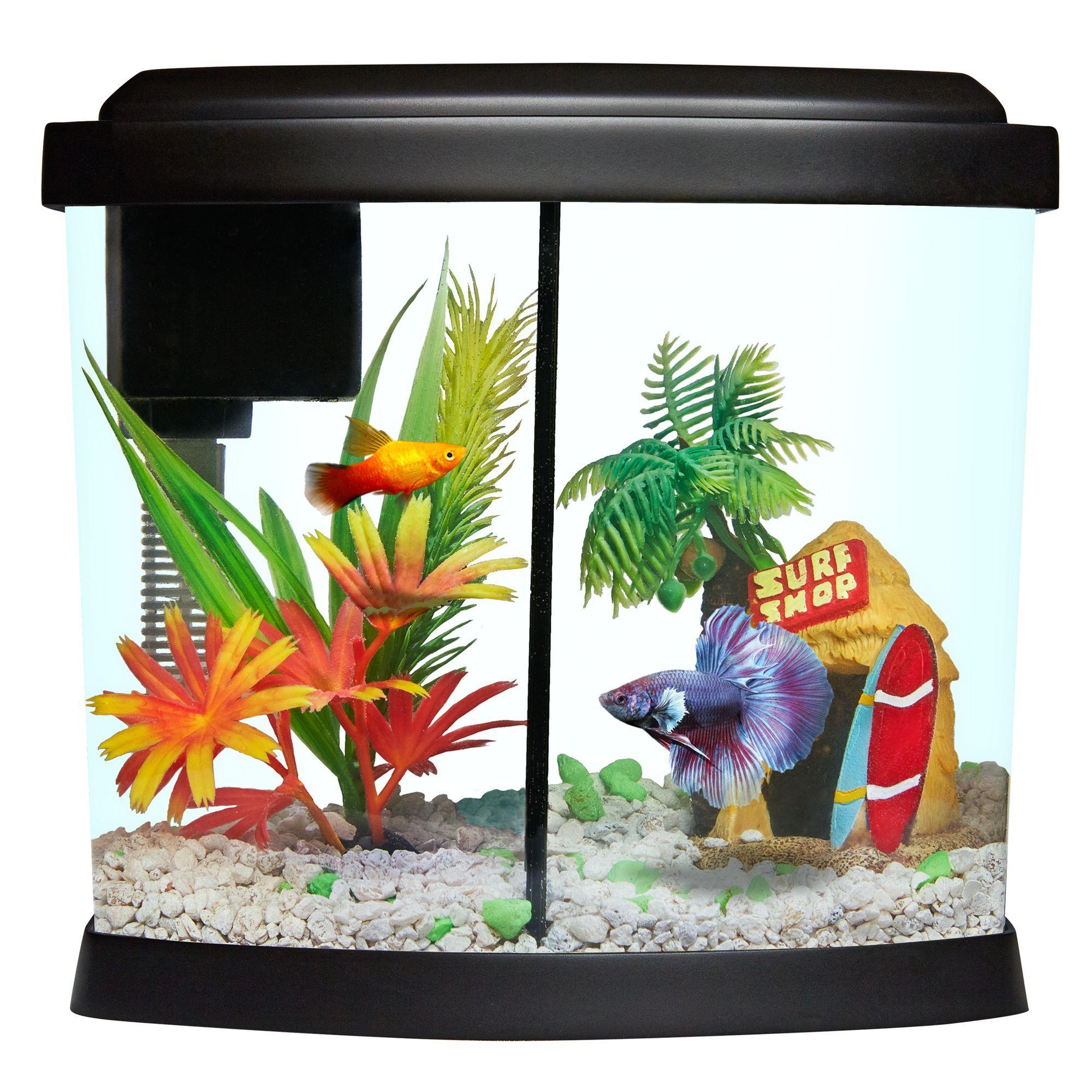 Top Fin Liquidy Split Aquarium 1 Gallon size 1 Gal