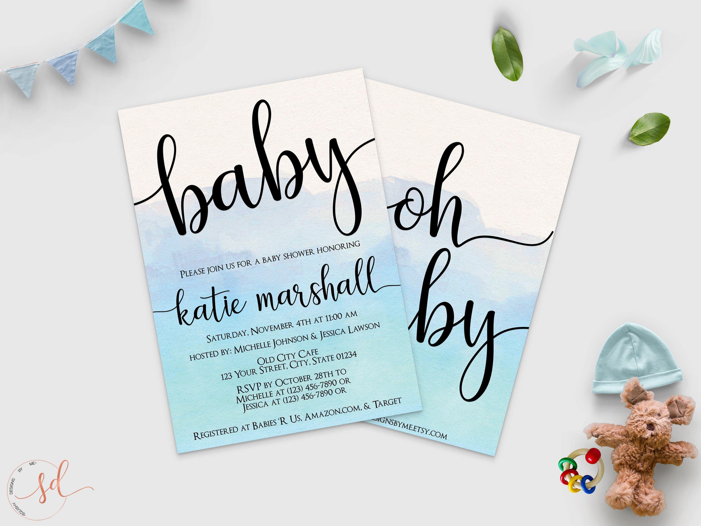 Oh Boy Baby Shower Invitation It's a Boy Invite Blue | Etsy | Baby shower  invitations for boys, Baby shower invitations, Baby shower cards