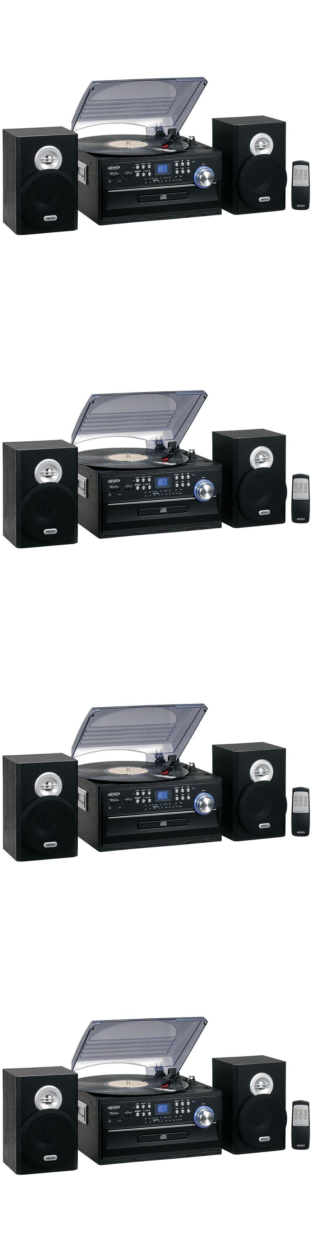 Record Players Home Turntables: Jensen Am Fm Radio 3 Speed Turntable Cd