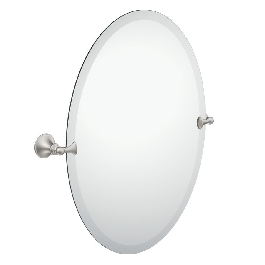 Lowes Mirror 94 Brushed Nickel Mirror Oval Mirror Bathroom Mirror Wall