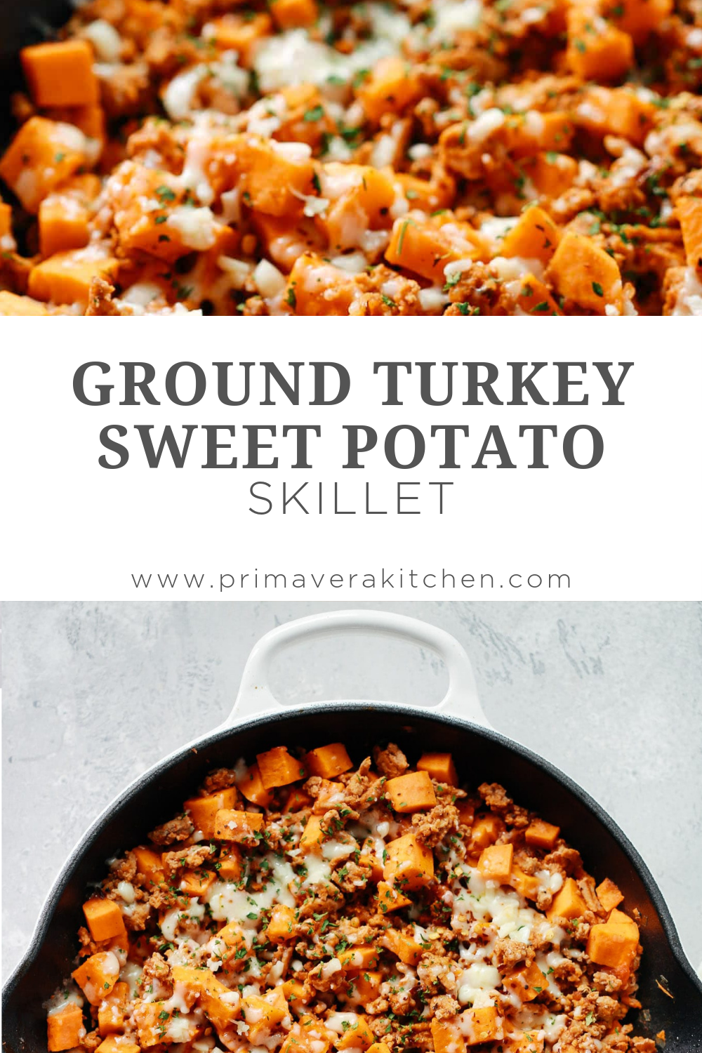 Photo of This Ground Turkey Sweet Potato Skillet will be ready to eat in less than 30 min…