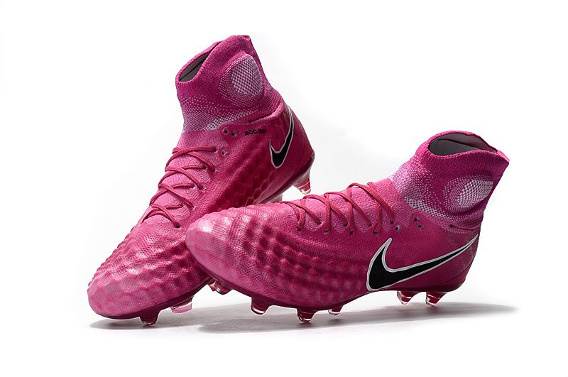 Nike Magista Obra II FG Pink Black Flyknit With ACC Football Boots