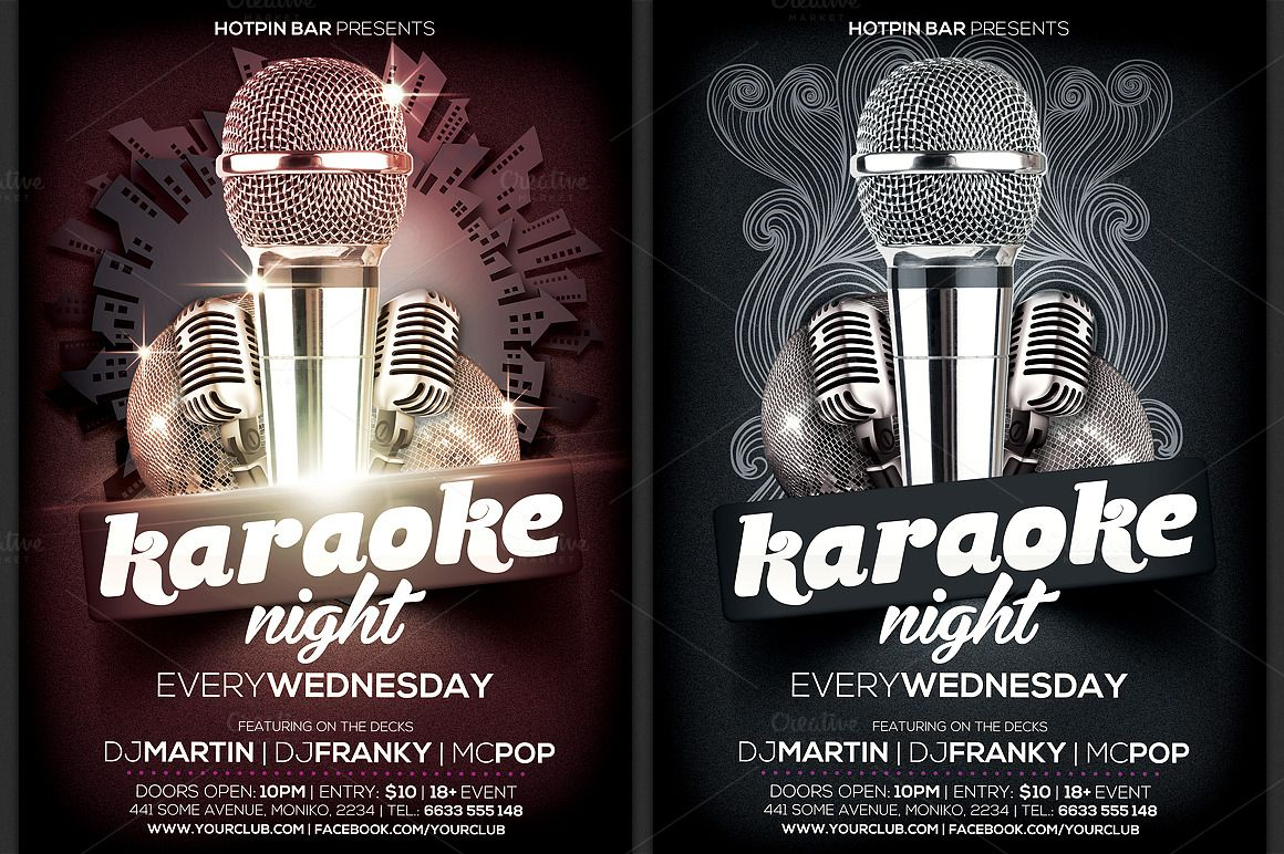 Karaoke Night Flyer Template Is Very Modern Psd Photoshop Flyer