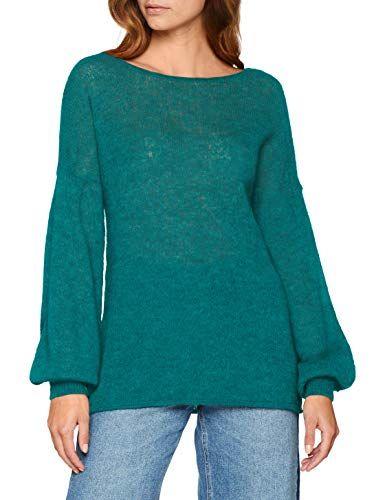 9ec3552867 Sisley Women s Sweater L S Jumper Blue (Fanfare 112) Medium ...