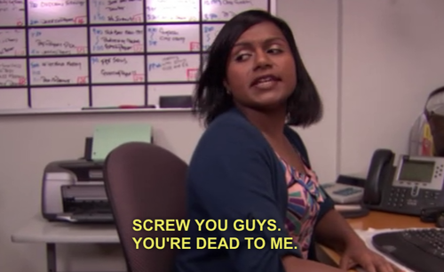 The Office Kelly Mindy Kaling The Office Senior Quotes The Office The Office Show