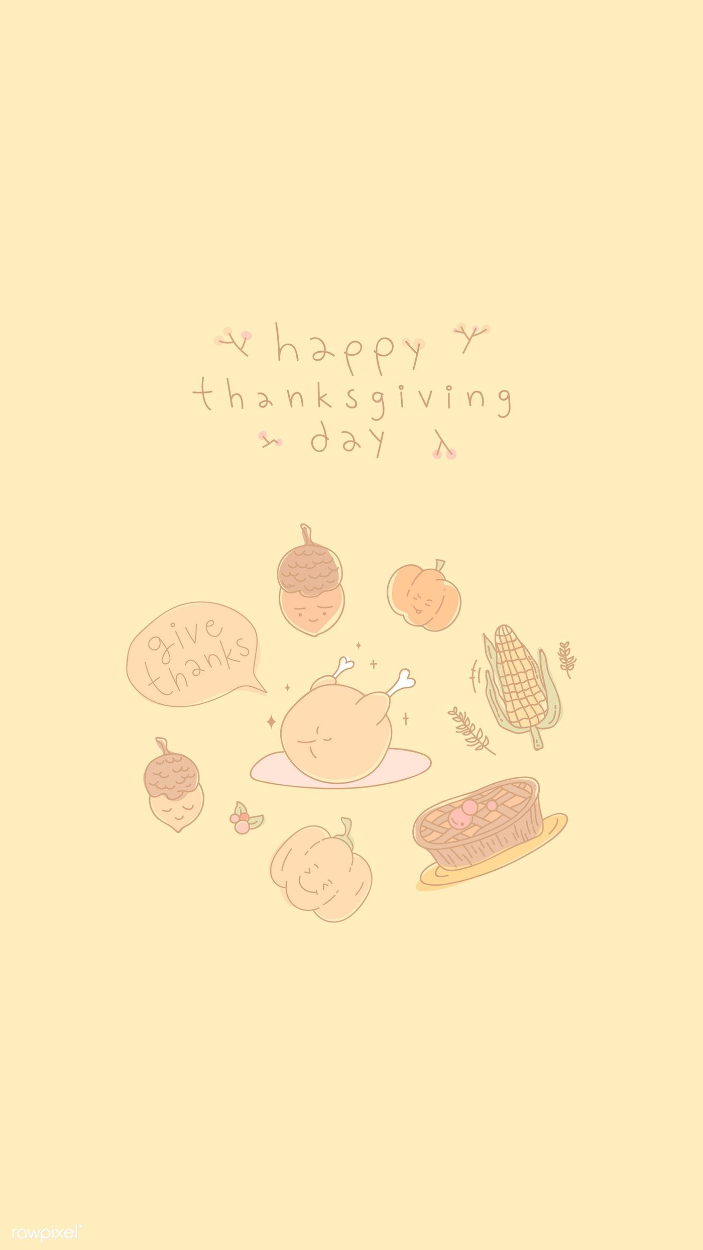Download premium vector of Thanksgiving elements m