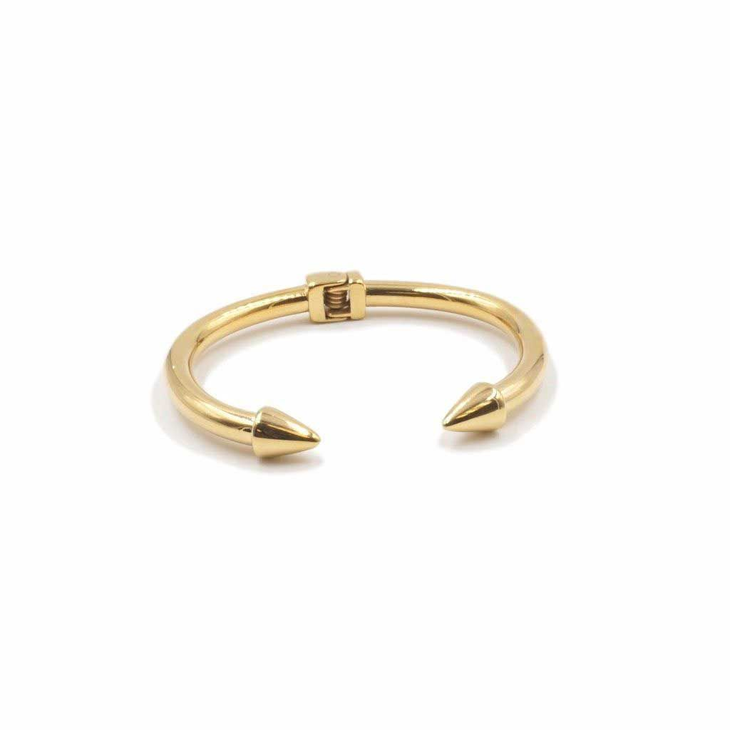 Kinsley armelle spike bangle bracelet in gold accessorize in