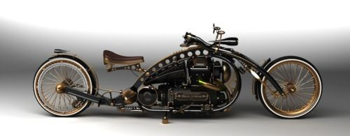 Steampunk. Sherlock Holmes' bike from the Steampunk Holmes (graphic?) novel series. Very cool. ld .