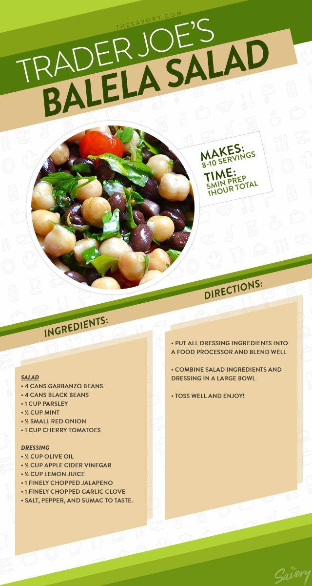 How To Make Trader Joe S Awesome Balela Salad Balela Salad Recipe
