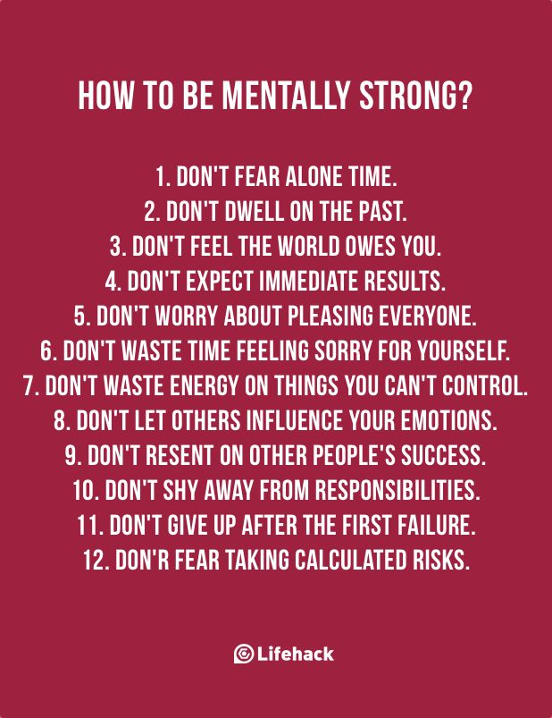 Staying mentally strong