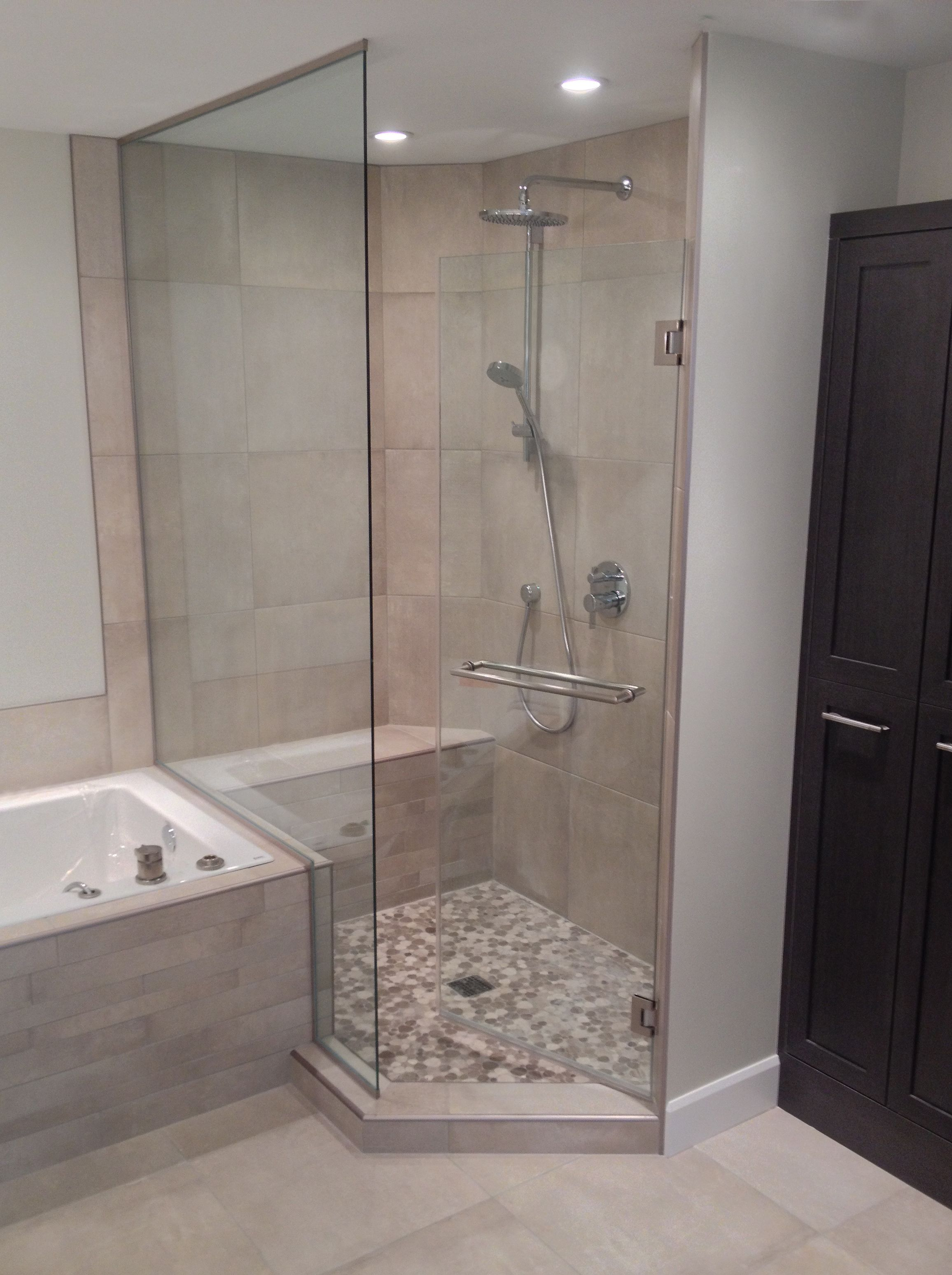 Semi Frameless Showerguard Glass Shower Installation By
