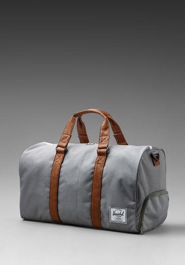 2abb41b29d525 Herschel Supply Co. Novel Duffle in Grey Tan