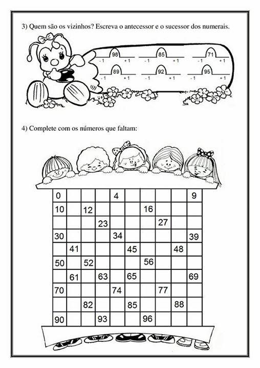 Atividade Aprendendo Os Numeros Volume 2 Atividades Atividades