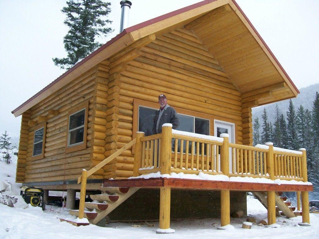 "Log Cabin Kit 8"" Swedish Coped Lodge Pole Pine eBay"