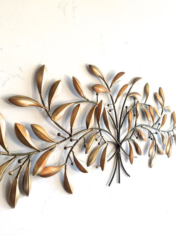 Metal Leaves Wall Decor leaf wall art, gold metal wall art, gold decor, leaf home decor