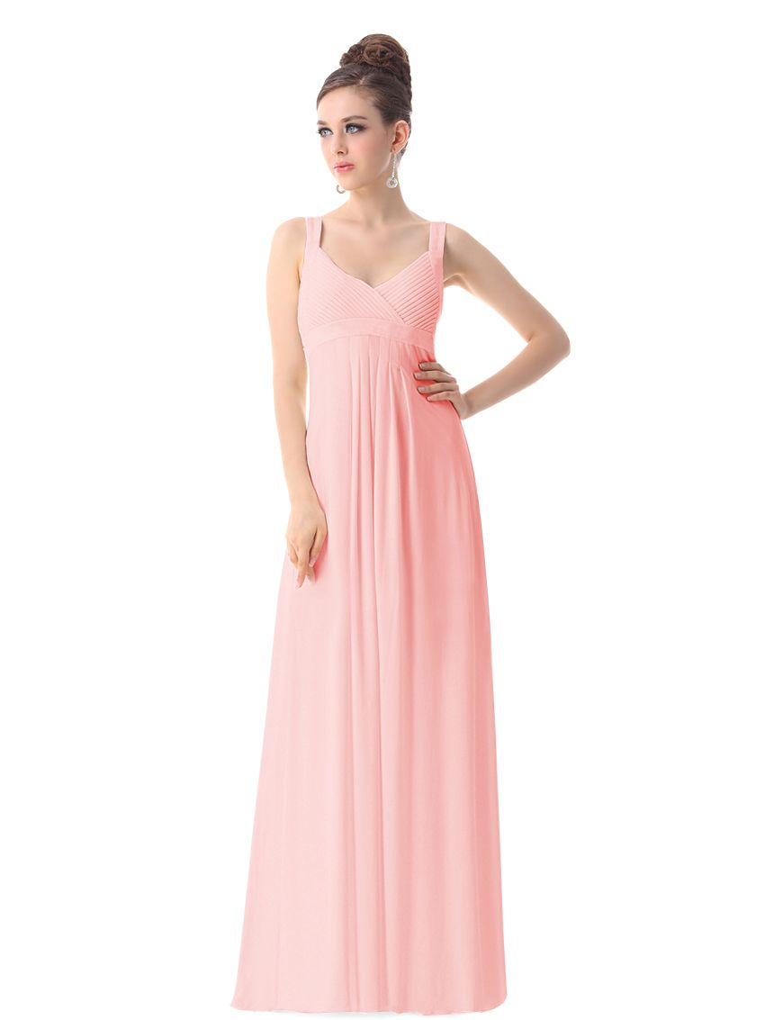 Simple and elegant floor length dress with straps. Available in a ...