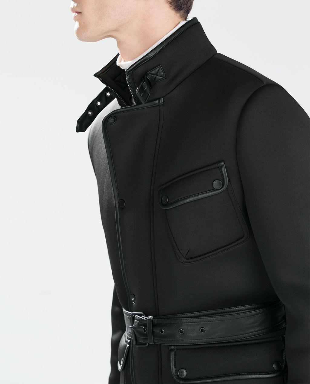 Zara Man Neoprene Short Coat Edge Man Zara Man