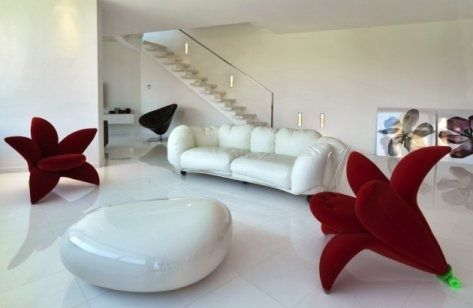 Futuristic Living Room Furniture | White Living Room ...