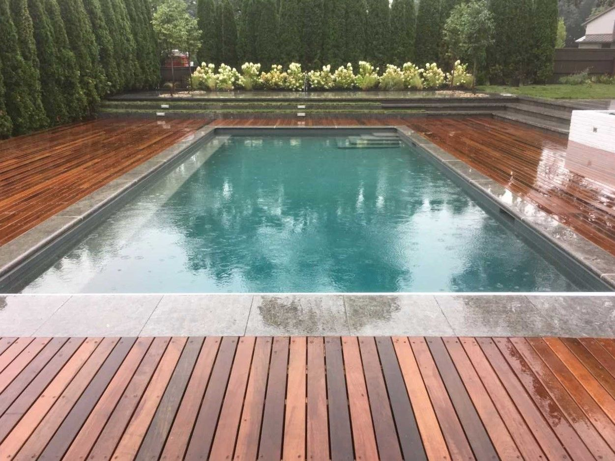 Pool With Ipe Decking Pools Backyard Inground Swimming Pools Backyard Backyard Pool