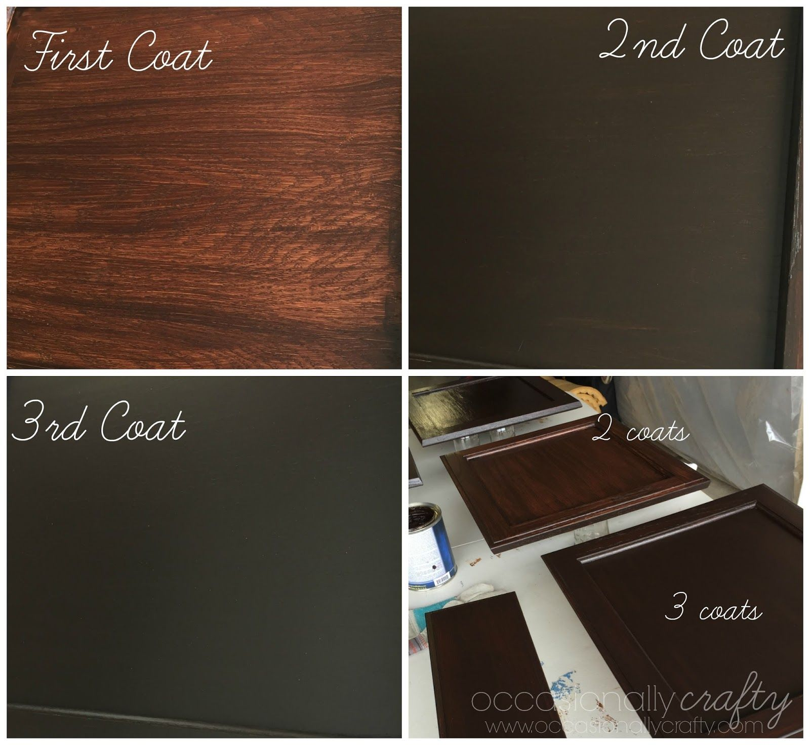 Painting golden oak cabinets - Occasionally Crafty Transform Your Golden Oak Cabinets With Java Gel Stain