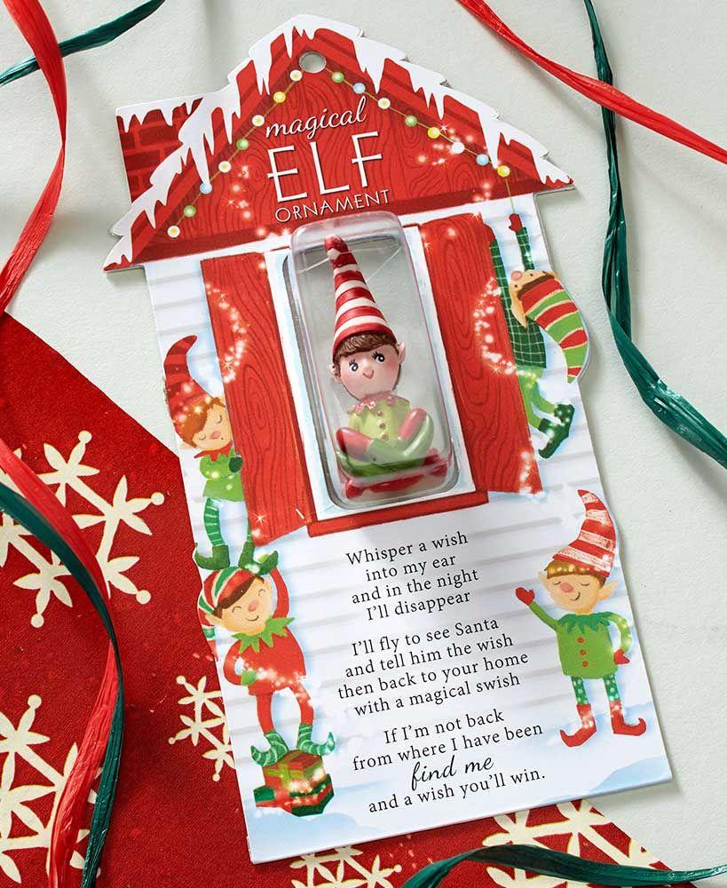 Magical Elf Holiday Ornament Or Sign Elf Christmas Tree Holiday Ornaments Holiday Tree