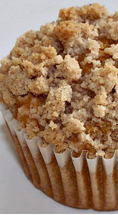 Jumbo Pumpkin Streusel Muffins #pumpkinmuffins