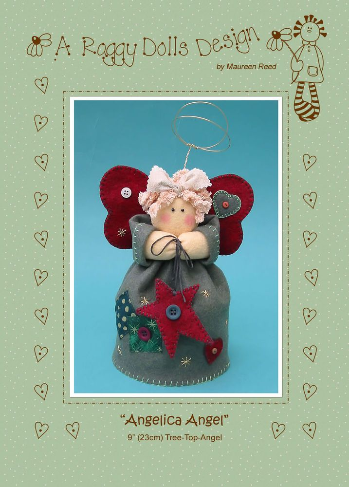 Angelica Tree Top Angel Felt Sewing Craft Pattern Xmas Christmas
