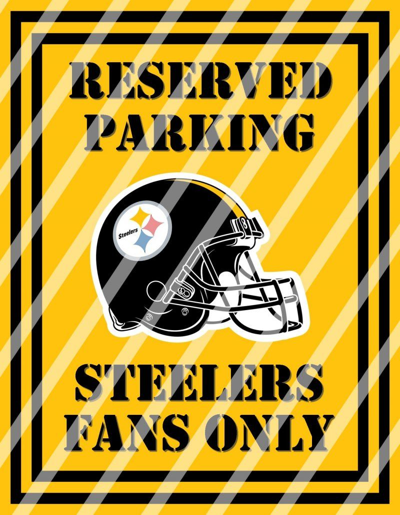 Pittsburgh Steelers Parking Wall Decor Sign #5 (instant download ...
