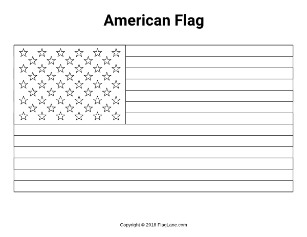 Free Printable American Flag Coloring Page Download It At Flaglane
